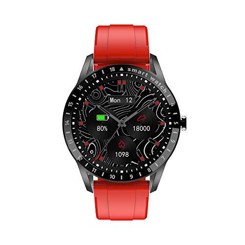 lalakabu Smart Armband IP68 wasserdichter Sport Schrittzähler, Herzfrequenz und Blutdruck Informationen drücken, Heben Sie Ihre Hand und helle Bildschirm Blutdruckuhr