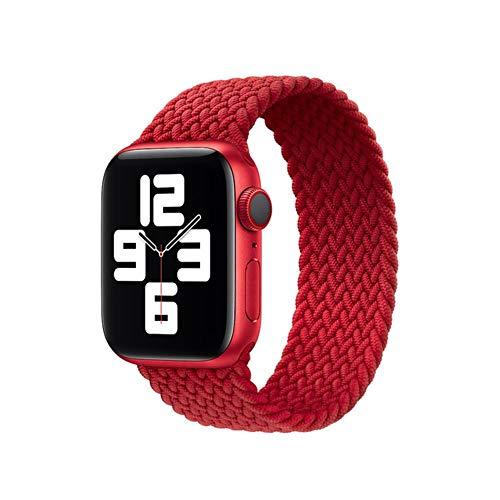 MAPPE Correa Trenzada para Apple Watch Band Series 6 Se 5 4 3 2 Pulsera Elástica De Silicona para Iwatch 40Mm 44Mm 38Mm 42Mm Band, China, L