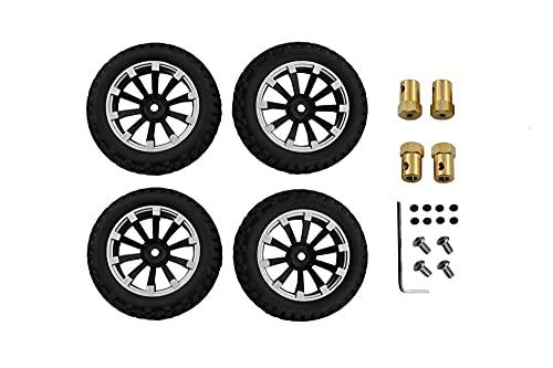WMryp Ruedas y neumáticos Mini Niveles De Rueda para MN 1:12 RC Car MN90 MN90K MN91 MN91K MN45 MN45K MN99 MN99S Accesorios De Actualización ( Color : 02 Silver )