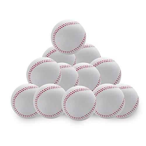 CviAn 12 Stück Baseball-Kinder-Basebälle aus Schaumstoff für Juniorspieler, Trainingsball aus Schaumstoff