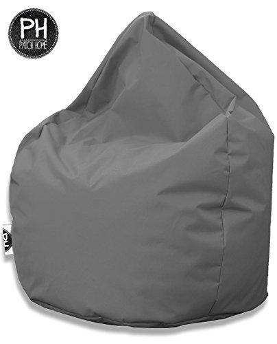 Patchhome Sitzsack Tropfenform Anthrazit für In & Outdoor XL 300 Liter - mit Styropor Füllung in 25 versch. Farben und 3 Größen