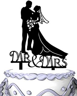 Meijiafei Embracing Bride and Groom Mr & Mrs Wedding Day Cake Topper Silhouette