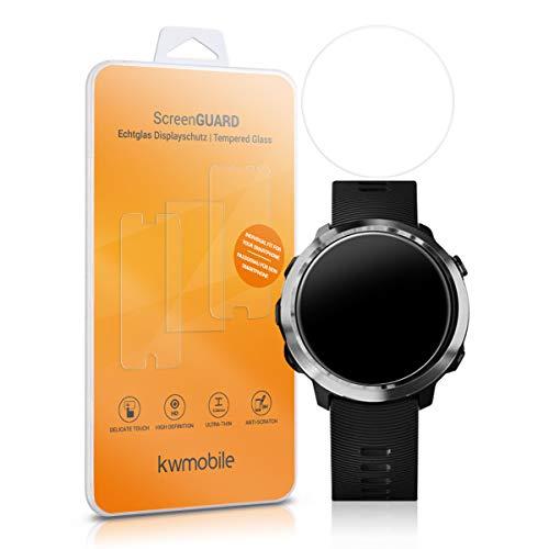 kwmobile 2X Protector de Pantalla de Vidrio Compatible con Garmin Forerunner 645- Pulsera Fitness Vidrio lámina Transparente