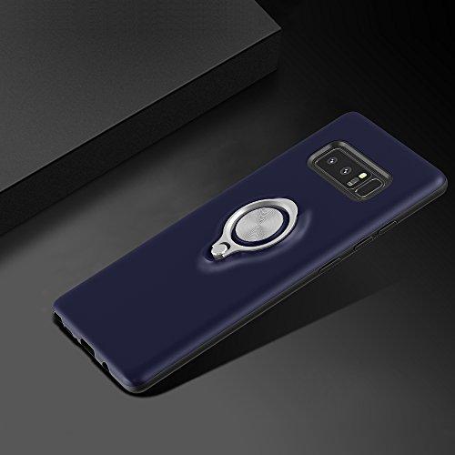 SORAKA Funda para Samsung Galaxy Note 8, SORAKA de doble capa (PC+TPU) con soporte giratorio de 360 grados, soporte magnético para coche para Samsung Galaxy Note 8