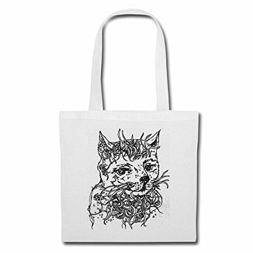 Bolsillo Bolso Bolsa HERMOSA CASA SALVAJE gato de la casa del gato persa CAT SALVAJE de angora siamés de Bengala Bolsa de deporte Bolsas de Blanco