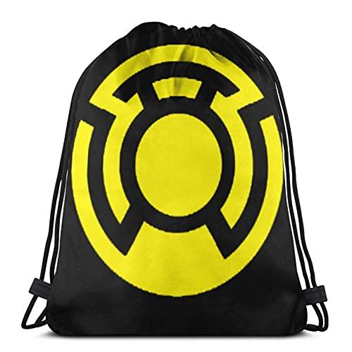 Bolsas con cordón amarillo Linterna Corps Unisex Mochila con cordón Bolsa de cuerda Bolsa de deporte Bolsa de cuerda Bolsa grande Bolsa de asas Bolsa de Gimnasio Mochila a granel