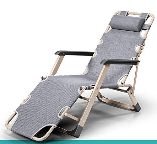 lanying Sillas Reclinables para Jardín Exterior o Piscina Sun Lounger Recliner Cero Gravedad jardín Patio sillas Plegables jardín Patio al Aire Libre sillones reclinables-04