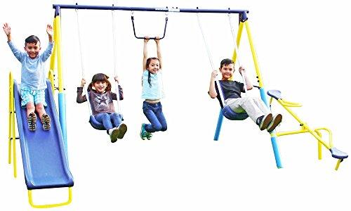 Sportspower Super First Metal Swing and Slide Set