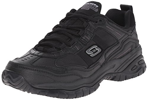 Skechers for Work Men's Soft Stride Mavin Athletic Oxford, Black, 8.5 M US