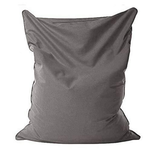 HudeMR - Pouf per poltrona a sacco per divano e poltrona, senza riempimento, per divano, letto, pouf, pouf, chaise longue Lazy Tatami Lazy Lounger (dimensioni: 1,1 x 1,4 m; colore: grigio scuro)