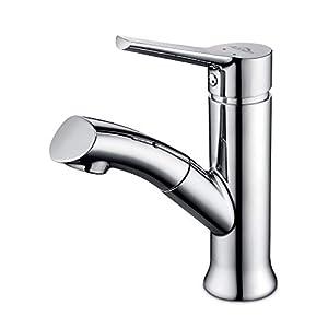 Auralum – Grifo cromado Grifo de baño giratorio 360° grifo mezclador de lavabo grifo de lavabo grifo mezclador monomando…
