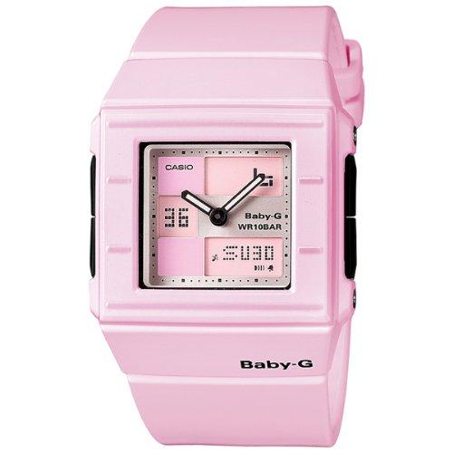 CASIO BABY-G BGA-200-4E2ER - Reloj analógico y digital de cuarzo con correa de resina para mujer (luz, alarma, cronómetro, sumergible a 100 m), color rosa