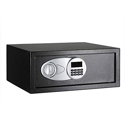 Amazon Basics - Caja fuerte (20L), color negro