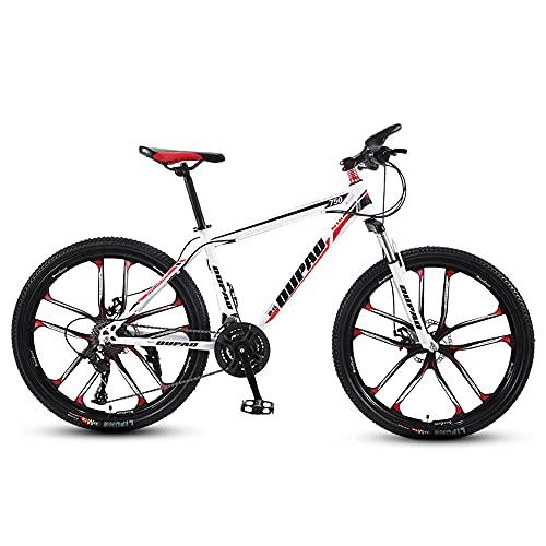 Bicicleta De MontañA, Bicicleta De MontañA Acero Al Carbono, Delantera Y Trasera Frenos De Disc, 30 Marchas Shimano 24' Pulgadas, Para Adultos