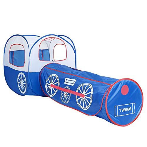 Tienda Juegos para Trenes Locomotoras,Túnel Emergente Portátil para Niños Casa De Juegos Plegable Playhouse Castle,Nursery Hut Play Toy Regalos para Jardín Y Parque Interior Al Aire Libre