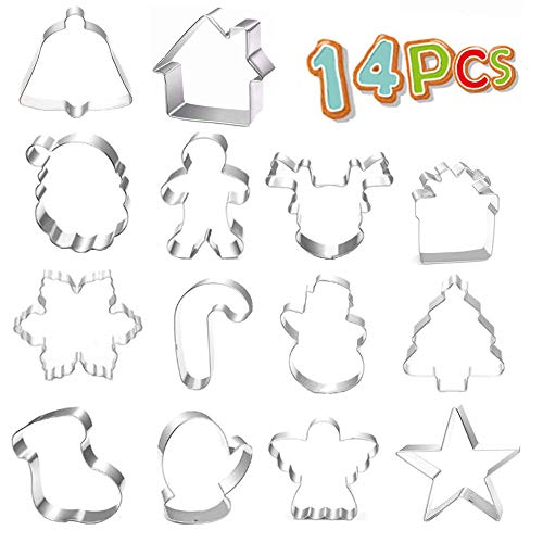 14 Cookie Cutters Christmas Shapes