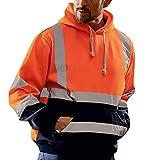 Sudaderas con Capucha Hombres SHOBDW Liquidación Venta Ropa de Trabajo en la Carretera High Visibility Tira Reflectante...