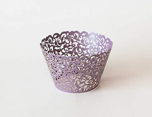 Premium Filigree Cupcake Liner Wrap 108 Count Different Color Options (Black)
