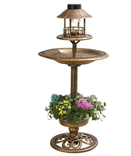 a2z-discounts Gardens2you - Mangiatoia per Uccelli a energia Solare, con Luce Decorativa da Tavolo