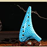 SYXLNNYYZM Ocarina Flauta 12 Agujeros Clave Alto C Legend of Zelda Ocarina Flauta Sea Waves Surface Professional Ocarina 12 Instrumento de música Popular