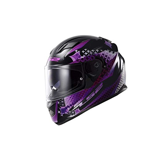 LS2 Casque de Moto, Noir/Rose, S