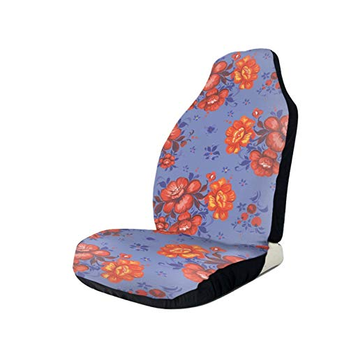 NYIVBE Floral Ornament Roses Front Car Seat Covers,Universal Soft Vehicle Seat Decoration Protector Cover Bag for Sedan,Truck,SUV