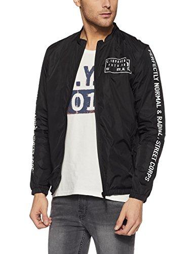 Jack & Jones Men's Nylon Jacket (1976857001_Black_XX-Large)