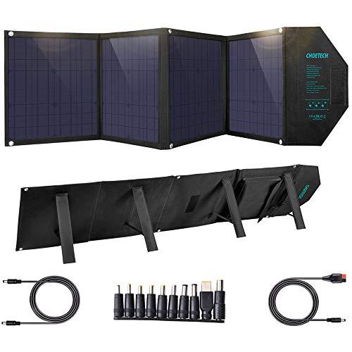 ソーラーチャージャー 80W CHOETECH ソーラーパネル 【DC・USB-C・USB3.0 4ポート出力/折畳み式/Smart-IC/...