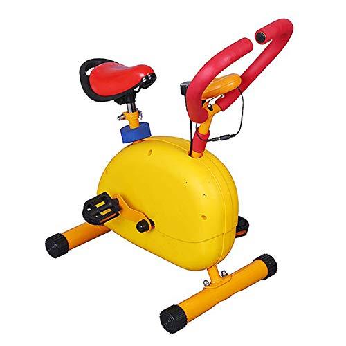 HWOEK Bicicleta Fija para Niño, Equipamiento Deportivo Infantil Mejorar la Función Cardiopulmonar Resistencia Ajustable