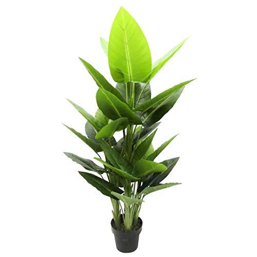 GreenBrokers Árbol Artificial de 130 cm de Tacto Real, Verde