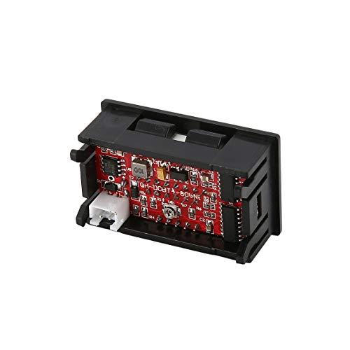Heaviesk Digital Spannungsmesser DC 5V-70V LED-Digitalanzeige Voltmeter Elektrische Batteriespannung Meter Volt Tester für Auto Auto Motorrad Batterie Warenkorb