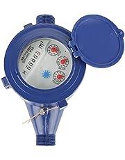 GGOOD Medidor de Flujo de Agua fría plástico DN15 15 mm rotación de 360 ??Grados Accesorios Contador para jardín de Uso, Hardware de los Muebles