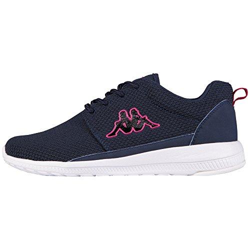Kappa Damen Speed II Sneakers, Blau (6722 navy/pink), 40 EU