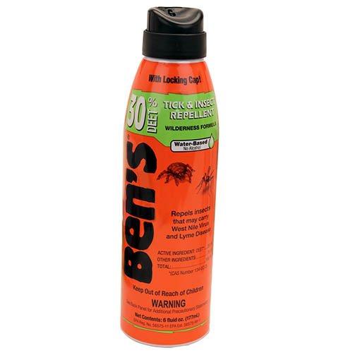 Bens Tick & Insect Repellent 30% Deet 6 Ounce Spray (177ml) (3 Pack)