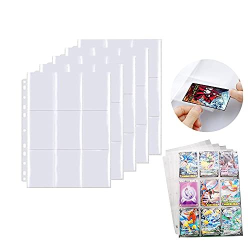 FGen Funda para Cartas, 360 Bolsillos Fundas Cartas 20 páginas, Juegos de Cartas...