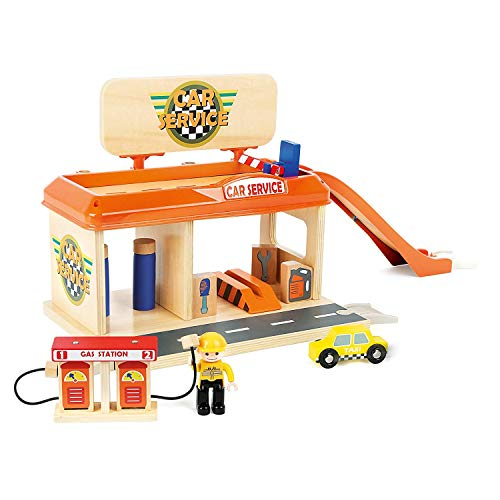 19-Piece Small Foot Wooden Toys Kid's Auto Repair Shop and Gas Station Playset $14.57 + Free Shipping w/ Prime or on $25+