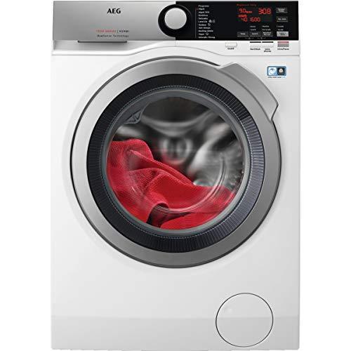 AEG L7WEE962 Lavasecadora de Libre Instalación, Carga Frontal, Lava 9 Kg, Seca 6 Kg, 1600 rpm, Serie 7000, Motor Inverter, Programa NonStop, Panel LCD, Puerta Inox, Blanco