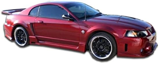 Brightt Couture ED-XZO-024 Urethane Special Edition Side Skirts Rocker Panels - 2 Piece Body Kit - Compatible With Mustang 1999-2004