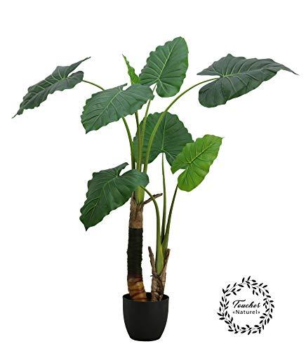 Línea Deco | Planta Philo Artificial | 120 cm | 2 Troncos | Efecto Tacto real | Planta Verde Artificial | Planta Tropical Exótica | Árbol | Decoración de Interior