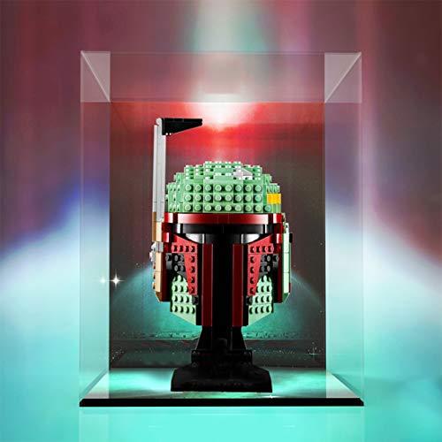 HYZM Carcasa para casco Lego Star Wars Boba Fett de Acrílico Vitrina Display Box compatible con Lego 75277 (solo caja de pantalla)