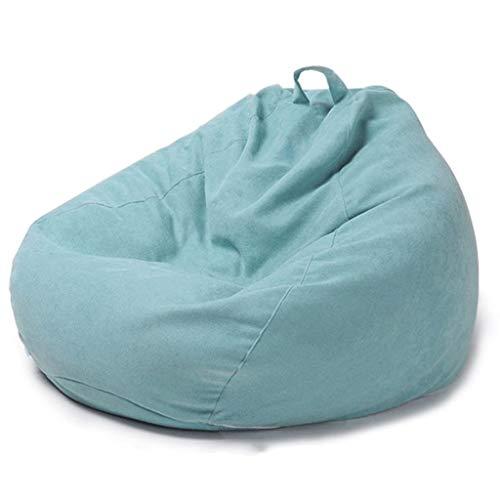 WGYDREAM Sitzsack Beanbag High Back Gaming Lehnstuhl, Großer Faule Lounger Innenstuhl, Wasserdicht Erwachsene Kinder Stuhl - 90 * 110cm Bean Bag (Color : Sky Blue)