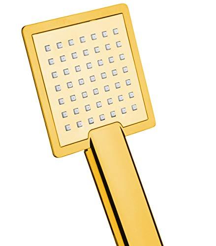 ATCO® Handbrause Gold eckig 1-strahlig KS Duschkopf