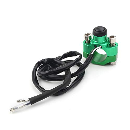 Three T Interruptor de botón para motor de motocicleta Start Stop Kill Start Stop con soporte, manillar de 7/8' 22