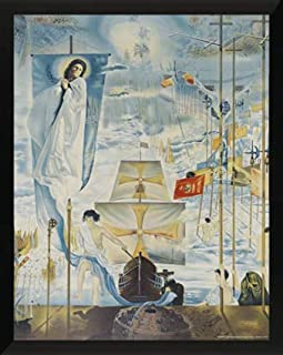 SALVADOR DALI-Discovery of America by Christopher Columbus PRINT POSTER painting by artist Salvador Dalí, begun in 1958 and finished in 1959. SURREALIST ART PAINTING ((11 X 14 FRAMED PRINT)