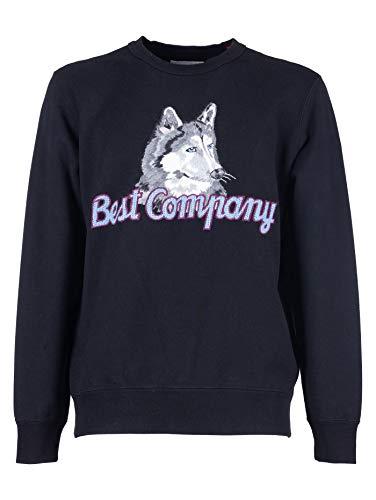 Best Company Herren-Sweatshirt mit langen Ärmeln aus Baumwolle, Schwarz, Schwarz Large