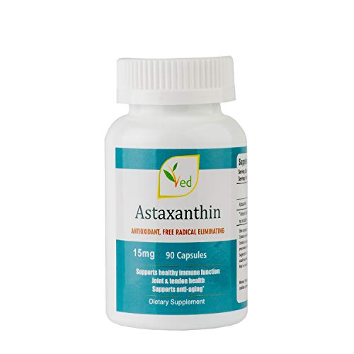 Astaxanthin 4mg 60 Capsules Anti-Aging Support Immune Syatem, Joint, ANTIOXIDANT