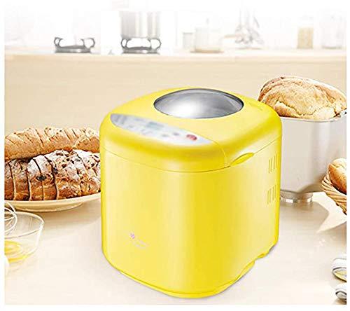 JL-GROUP Brotbackautomat 415 Watt, (Schongarer, Reiskocher, Joghurtbereiter Etc.), 10 Kochprogramme, 3 Versch. Bräunungsgrade, Warmhaltefunktion Gelb