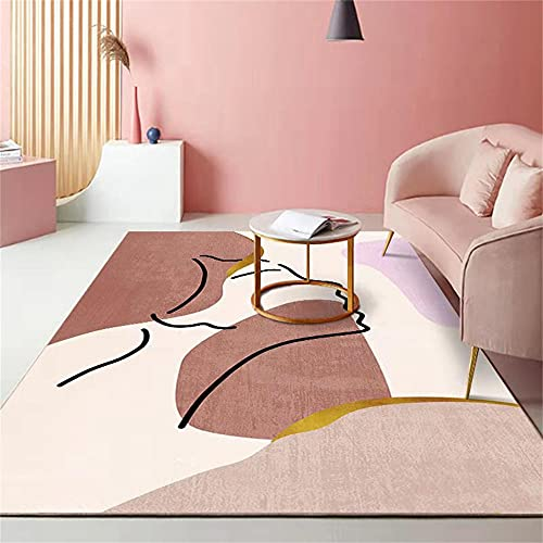 Pasillo Cocina Escalera Diseño Moderno,Familia Exquisita líneas abstractas impresión Irregular y teñido Área de antifuling alfombra-160x230cm