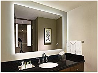Hans&Alice LED Lighted Rectangular Wall Mounted Mirror (36