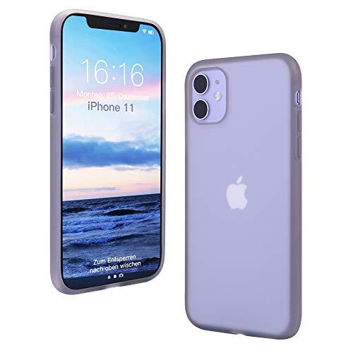 ANTTO Hülle für iPhone 11, Ultra Dünn Silikon Hülle Transluzent Handyhülle Anti-Scratch Hülle Anti-Fall Schutzhülle Anti-Fingerabdruck Bumper Cover für iPhone 11 - Schwarz